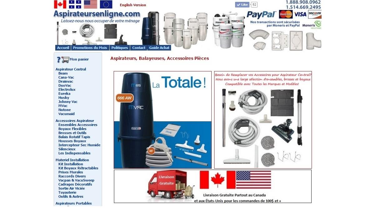 vente et achat aspirateurs en ligne | citedelaspirateur